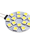 G4 Spot LED 15 diodes electroluminescentes SMD 5050 Blanc Chaud Blanc Froid 480lm 5500-6500K DC 12V