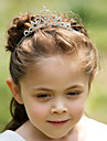 Rhinestone Alloy Tiaras Headbands Headwear with Floral 1pc Wedding Special Occasion Headpiece