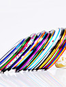 12 pcs Nail Foil Striping Tape nagel konst manikyr Pedikyr Dagligen Abstrakt / Mode / Foliebandspapp