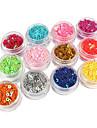 12 pcs Parıltı Nail Art Takımı Tırnak Takısı Sevimli tırnak sanatı Manikür pedikür Karikatür / Düğün / PVC / Nail Jewelry