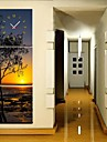Coasta de apusul de soare ceasului în 3pcs Canvas