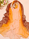 femei elegant vânt multicolor zi ecran solar total sifon eșarfă