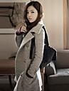 Newcomerland ™ lână coreeană versiunea Slim gros Coat