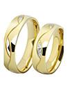 Bărbați Pentru femei Inele Cuplu Verighete Zirconiu Cubic Iubire bijuterii de lux Teak Placat Auriu Diamante Artificiale Circle Shape