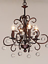 4-Light Lumânare stil Candelabre Lumini Ambientale - Stil lumânare, 220-240V Becul nu este inclus / 10-15㎡ / E12 / E14