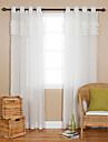 En panel Fönster Behandling Land Enfärgad Vardagsrum Polyester Material Skira Gardiner Shades Hem-dekoration