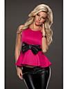 TOPRO Femei dulce drăguț Peplum Bow bluza fetei Vintage Elegant cu maneci scurte de vară Celeb Top 9132