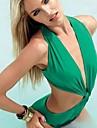 fată de femei glamour moda solid verde costume de baie de culoare
