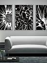 Floral/Botanic Pânză Înrămată / Set Înrămat Wall Art,PVC Alb Fără Rogojină cu Frame Wall Art