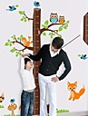 Createforlife ® Cartoon Tree Höjd Chart Kids Nursery Room Wall Sticker Wall Art dekaler