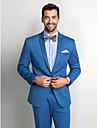 standard de poliester albastru se potrivesc costum din două piese