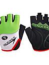 Nuckily Aktivitet/Sport Handskar Cykelhandskar Bärbar Andningsfunktion Slitsäker Anti-sladd Skyddande Stötsäker Fingerlösa PU Lycra