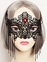 Cosplay Mask Unisex Halloween Karnival Festival / högtid Halloweenkostymer Svart Enfärgad Spets