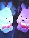 Coway Rova Kanin Färgglada LED Night Light söt liten kanin bröllop Supplies