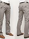 Bărbați Simplu De Bază Talie medie,Inelastic Pantaloni Mată