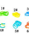 baoguang®300pcs culoare curcubeu război de țesut luminos de moda de culoare bandă de cauciuc război de țesut (clip 1package s, culori asortate)