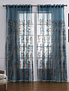 Sheer Perdele Shades Dormitor Contemporan Poliester Broderie