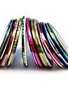 10st mixs färg folie stripp tejp linje spik rand band nagel konst dekoration klistermärke (slumpvis färg)