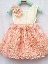 Fata de vara fără mâneci Rose Flower Dress