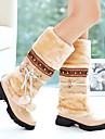 Dame Primăvară Vară Toamnă Iarnă Pantofi la Modă Imitație de Piele Rochie Toc Gros Negru Maro Violet Bej