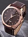 Bărbați Ceas de Mână Quartz Calendar Rezistent la Apă PU Bandă Negru Maro
