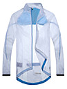 SANTIC Herr Cykel Solskyddande kläder / Jacka / Överdelar Vattentät, Snabb tork, Vindtät Enfärgad Ljusblå Cykelkläder