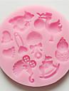 mucegai 3d desen animat pentru tort pentru cookie-uri pentru piept silicon nonstick culoare aleatoare