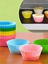 Bakeware verktyg Kiselgel Silikon Miljövänlig GDS (Gör det själv) Teflonbehandlad Paj Muffin Tårta bakformen