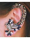 Pentru femei Cătușe pentru urechi bijuterii de lux La modă costum de bijuterii Ștras Aliaj Animal Shape Pasăre Bijuterii Pentru Nuntă