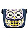 Women's PU Leather Cute Owl Print  Messenger Crossbody Mini Shoulder Bags