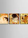 toile set Célèbre Personnage Classique Moderne Traditionnel,Trois Panneaux Horizontale Imprimer Art Décoration murale For Décoration