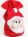 jul santa claus sammet handväska godis presentpåse