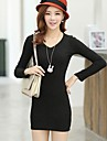 v gât tricot rochie casual, pentru femei (mai multe culori)