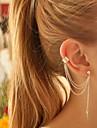 Pentru femei Cercei cu Clip Cercei Cătușe pentru urechi Personalizat European La modă costum de bijuterii Argilă Aliaj Leaf Shape