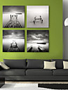 Imprimeu pânză întins Peisaj Patru Panouri Orizontal Imprimeu Decor de perete Pagina de decorare
