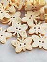 fluture album scraft de cusut nasturi din lemn DIY (10 buc)