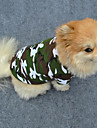 Hund T-shirt Hundkläder Mode Kamouflage Grön Kostym För husdjur