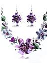 Set bijuterii Aliaj La modă bijuterii de lux Seturi de bijuterii Petrecere Ocazie specială Zi de Naștere Coliere ΣκουλαρίκιαCadouri de
