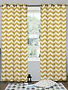 Stångficka Hyls-topp Hällor topp Två paneler Fönster Behandling Designer, Tryck Sovrum Polyester Material gardiner draperier