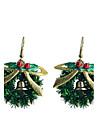 lureme moda lacuri de copt Bowknot inel de Crăciun cercei picătură din aliaj