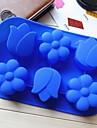 prune formă de lalea tort mucegai jeleu de gheață mucegai ciocolată, silicon 26,5 × 17,4 × 3 cm (10,4 x 6,9 x 1,2 inch)