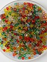 600pcs multicolore margele meserii ponei 2mm lucrate manual artizanale DIY accesorii / materiale de îmbrăcăminte