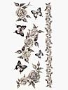 #(1) - Séries de fleur - Multicolore - Motif - #(18.5*8.5) - Tatouages Autocollants Homme/Girl/Adulte/Adolescent