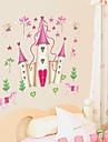 perete decalcomanii autocolante de perete, autocolante de perete de desene animate Disney Princess castel din pvc