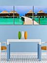 e-FOYER toile tendue es le balneaire cabane peinture decoration ensemble de trois