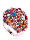 Inele Afirmatoare Aliaj Zirconiu Cubic imitație de diamant La modă Declaratie de bijuterii Culoare ecran Bijuterii Petrecere 1 buc