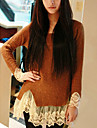 Zian® Women's Round Collar Vintage Lace Long Sweater