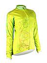 Tops/Mailliot -( Jaune/Vert ) de Fitness/Sport de détente/Cyclisme - Etanche/Vestimentaire/Pare-vent/Garder au chaud  à Manches longues