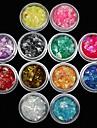 12 pcs Nail Smycken Frukt / Blomma / Abstrakt Vackert Dagligen Nail Art Design / Tecknat / Punk