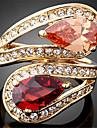 Dame Inele Afirmatoare La modă bijuterii de lux Personalizat European costum de bijuterii Zirconiu Zirconiu Cubic 18K de aur Diamante